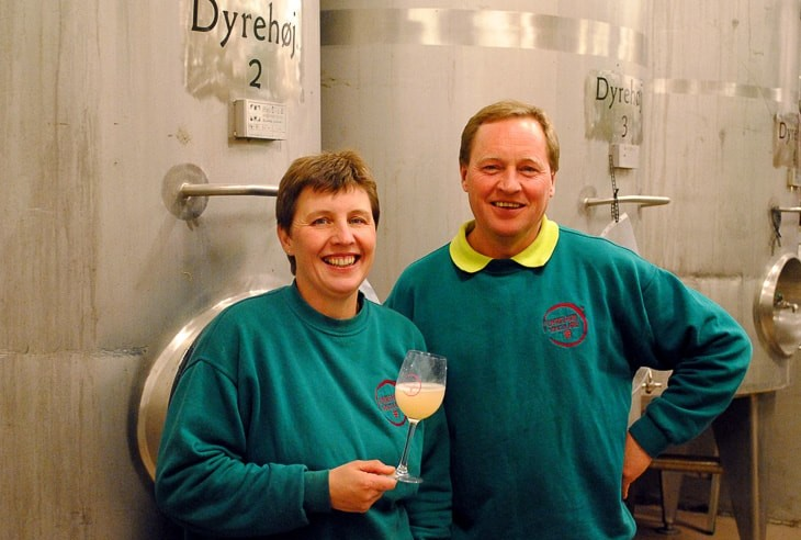 Tom Christensen og Betina Newberry fra Dyrehøj Vingård