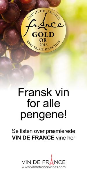 Fransk vin for alle pengene! Se listen over præmierede VIN DE FRANCE vine her: www.vindefrancewines.com
